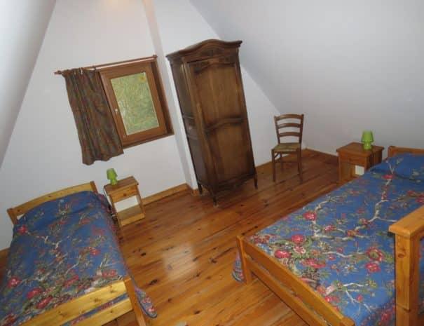 Seconde chambre, deux lits simples