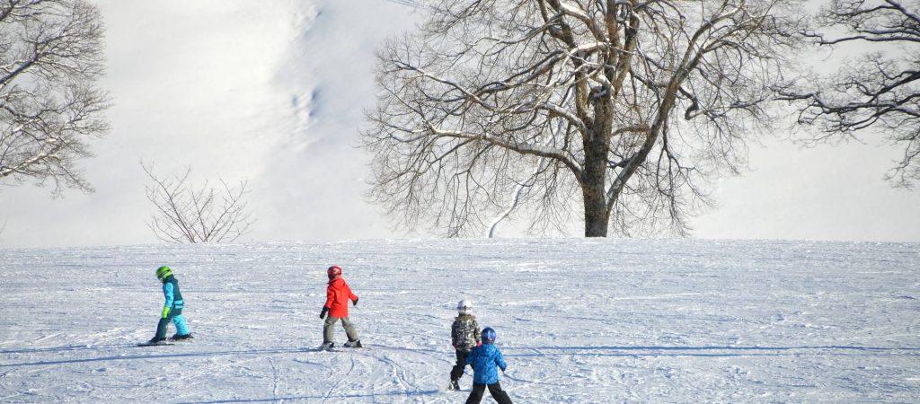 Enfants skieurs